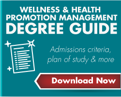 Download the Wellness and Health Promotion Management Degree Guide - admissions criteria, plan of study and more