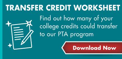 PTA Transfer Credit Worksheet - Download Now Graphic