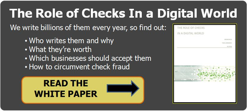 role of checks in a digital world, check payments, payment processing