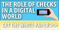 role of checks in a digital world, check payments