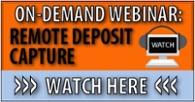 remote deposit capture, RDC, check payment processing