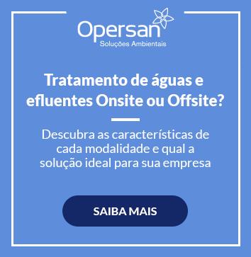 Tratamento de águas efluentes OnSite ou OffSite