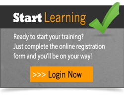 Ready to start training online today? Just complete the online registration form and you'll be on your way!  Click here to login now!