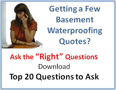 Downloadable document on questions to ask during basement waterproofing quotes