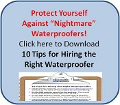 Click to download 10 Tips for Hiring the Right Waterproofer