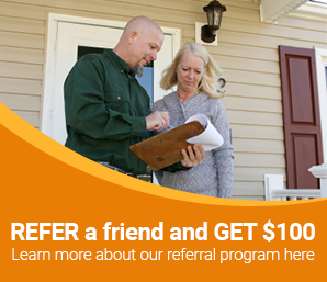 Refer a friend to our home improvement services.