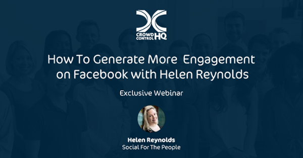 Exclusive Webinar: How to generate more engagement on Facebook