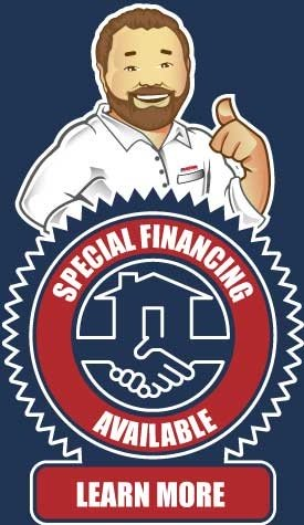Special financing available for all electrical, HVAC and plumbing service needs.