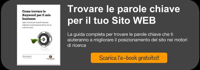 """Ebook """"Come trovare le keyword per il tuo sito"""""""