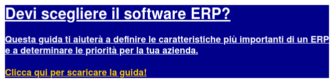 Guida all'acquisto Software Erp
