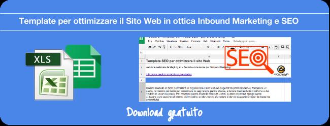 Scarica il template per l'ottimizzazione On-Page SEO