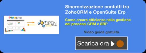 Video guida sincronizzazione contatti tra ZohoCRM e OpenSuite Erp