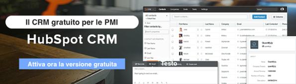 Attiva ora HubSpot CRM gratis