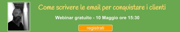 Webinar per imparare a Scrivere email per conquistare i clienti