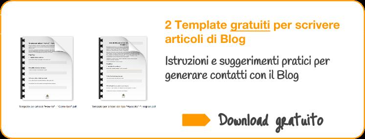 Download Template per scrivere articoli di Blog