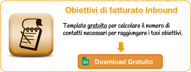 Template gratuito per obiettivi piano inbound marketing