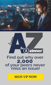 From A to Zinner  Newsletter Signup