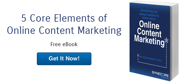five core elements of online content marketing free ebook