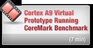 ARM Cortex A9 Virtual Prototype Running CoreMark Benchmark