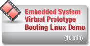 Embedded System Virtual Prototype Booting Linux Demo