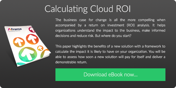 Download our FREE eBook on Calculating Cloud ROI
