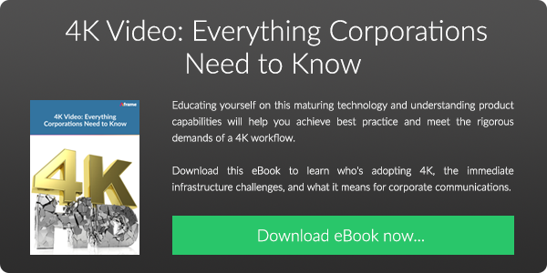 Download our FREE eBook on 4K Video: Everything Corporations Need to Know