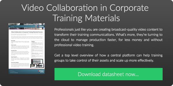 Download our FREE datasheet on Video Collaboration in Corporate Training Materials