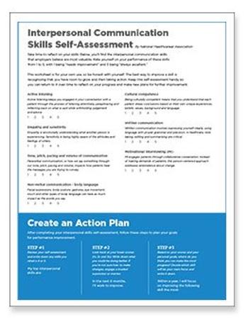 Interpersonal Skills Self-Assessment Worksheet