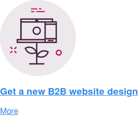 Get a new B2B website design  More