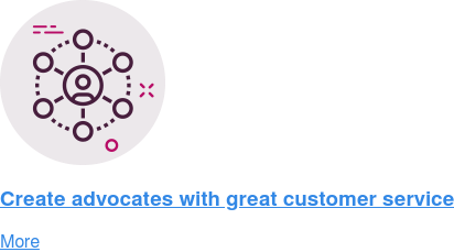 Create advocates with great customer service  More