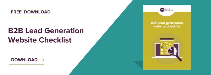 Download the B2B Website Lead Generation Checklist