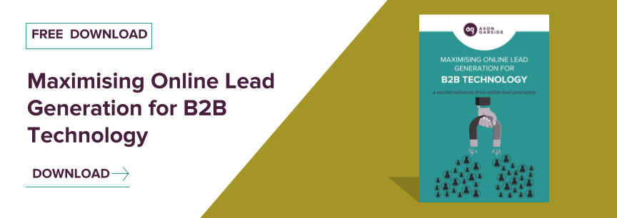 Maximising Online Lead Generation for B2B Technology Download