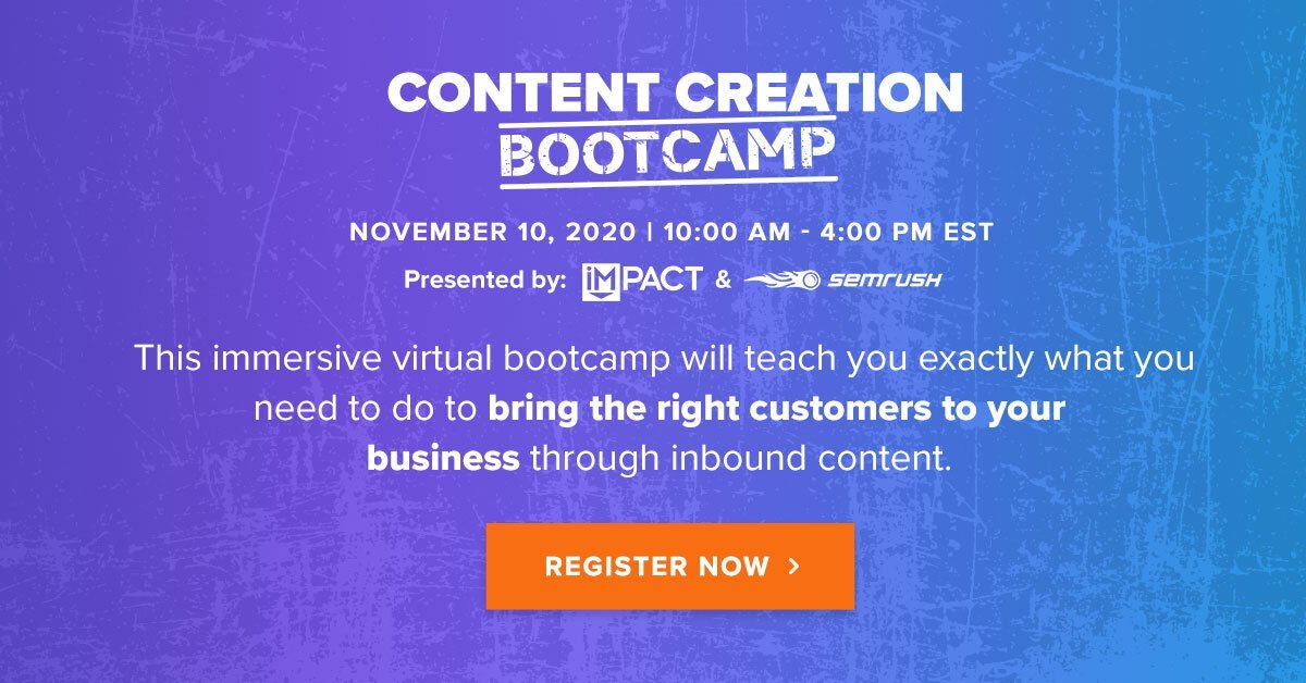 Content Creation Bootcamp