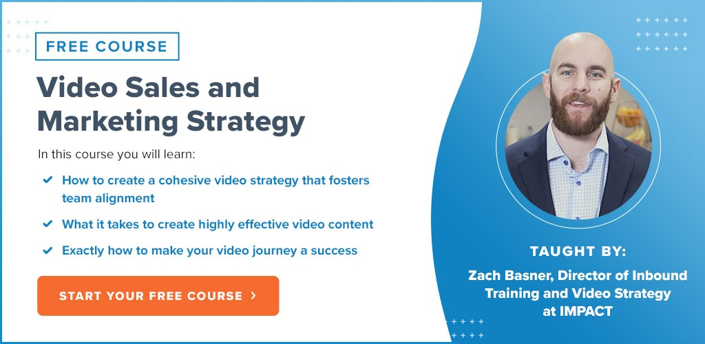 Video Sales and Marketing Strategy - Free IMPACT+ Course