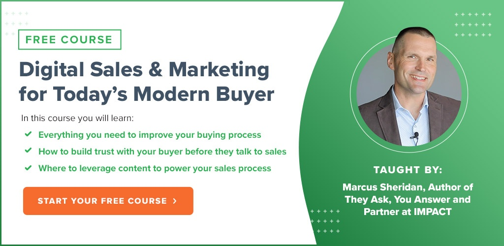 Digital Sales & Marketing For Today's Modern Buyer - Free IMPACT+ Course
