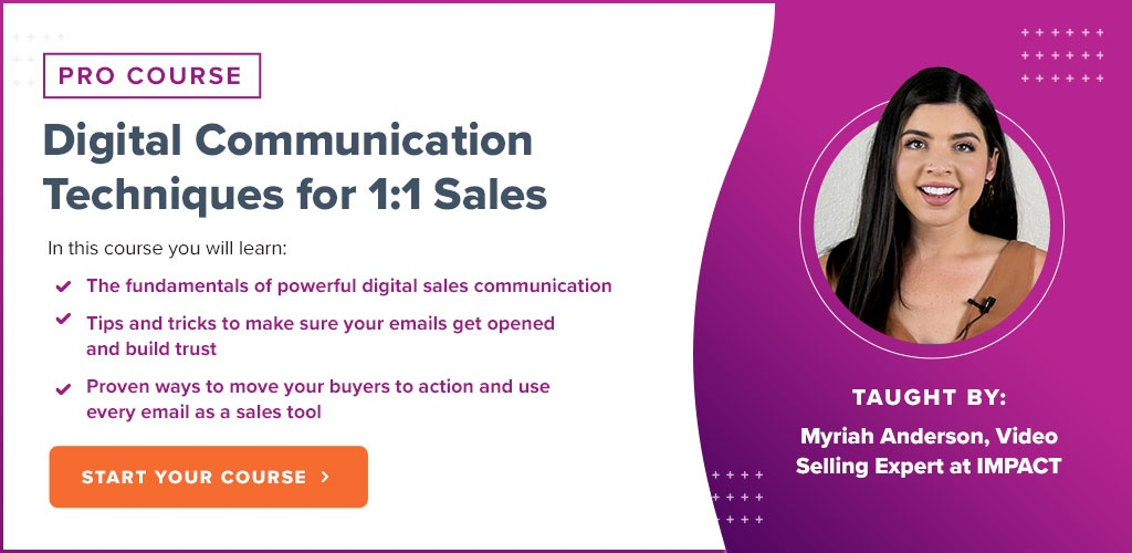 Digital Communication Techniques for 1 to 1 Sales