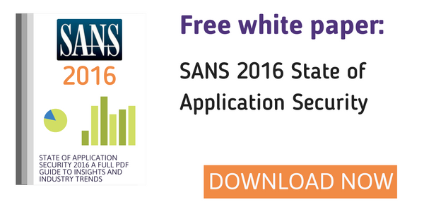 Free white paper: SANS 2016 State of Application Security