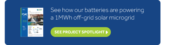 See how our batteries are powering a 1MWh off-grid microgrid
