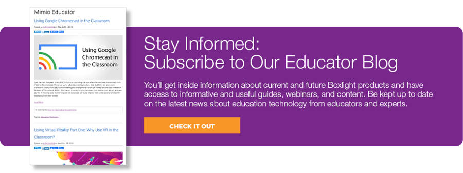 Educator Blog Subscription