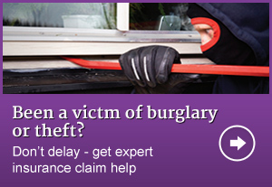 Burglary or theft insurance claim