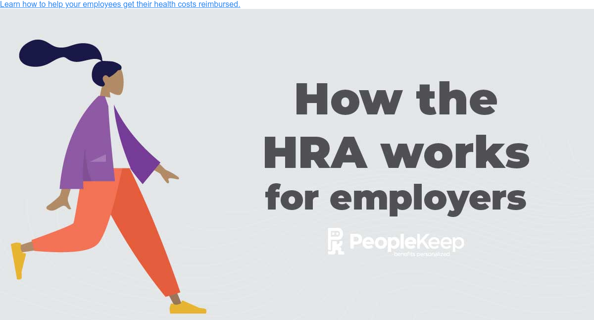 Learn how to help your employees get their health costs reimbursed.