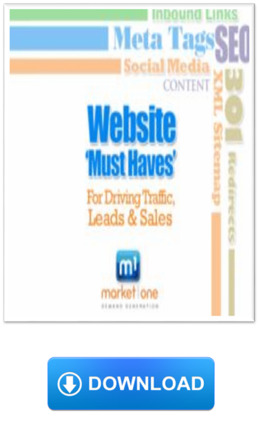 Market One Website Must Haves