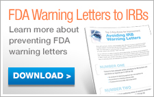 FDA Warning Letters to IRBs