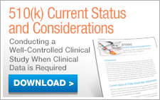 510(k) Current Status and Considerations