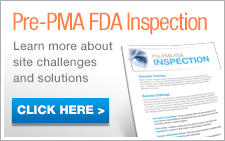 Download our Pre-PMA FDA Inspection