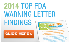 2014 Top FDA Warning Letter Findings | IMARC Research