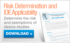 Risk Determination and IDE Applicability