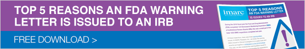 Top 5 Reasons an FDA Warning Letter is Issued to an IRB