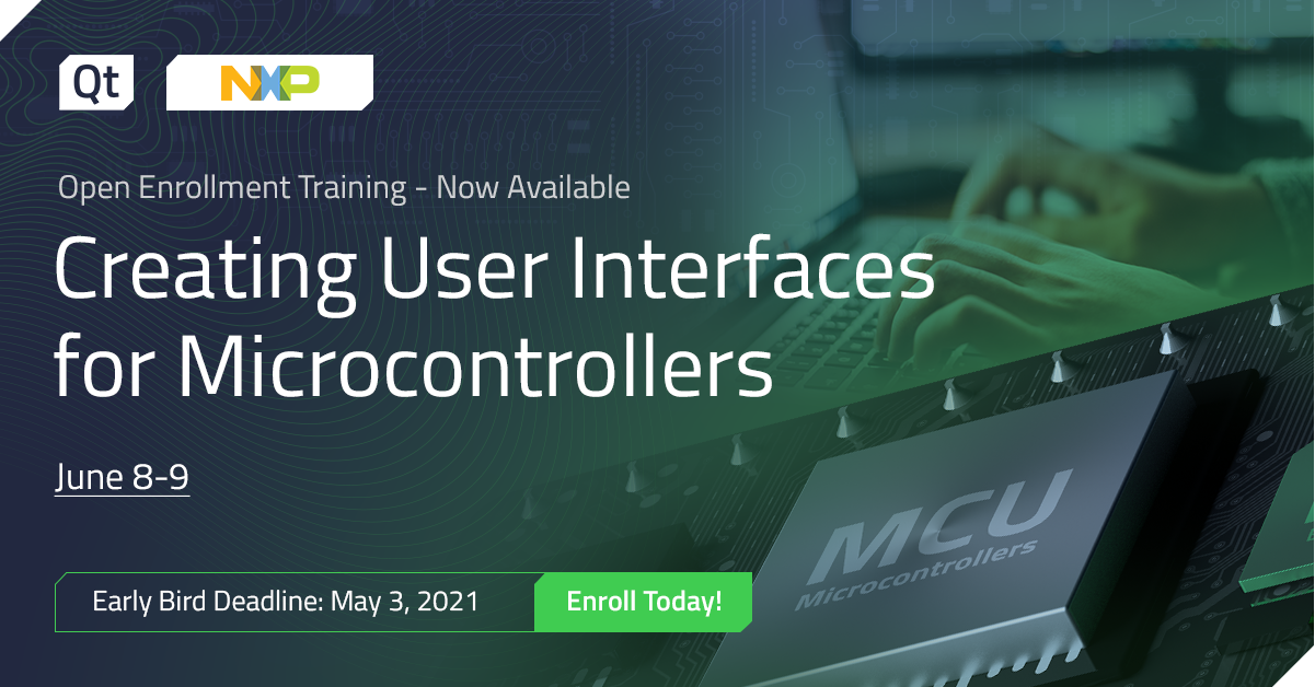 Qt Training: Creating User Interfaces for Microcontrollers, June 8-9