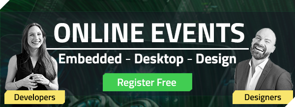 Join the tech talks on Embedded, Desktop and UI Design in 2020-2021 for free with live Q&As!